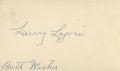 Baseball Collectibles:Others, Nap Lajoie Signed Government Postcard....