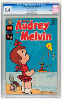 Little Audrey and Melvin #1 File Copy (Harvey, 1962) CGC NM 9.4 Off-white to white pages