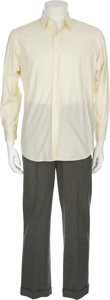 Movie/TV Memorabilia:Costumes, Paul Newman's Shirt and Pants From Road To Perdition....(Total: 2 Items)