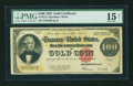 Large Size:Gold Certificates, Fr. 1215 $100 1922 Gold Certificate PMG Choice Fine 15 Net....
