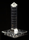 American, Peter Aldridge (American, 20th Century) . Synthesis, 1988. Steuben Glass, Corning, New York. Lead crystal. 29-1/4 x ...