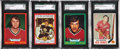 Hockey Cards:Lots, 1969 Topps and 1973 O-Pee-Chee SGC Graded Cards Lot of 4....