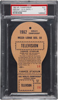 Football Collectibles:Tickets, 1962 NFL Championship Game Packers vs. Giants Full Press Pass, PSA EX 5....