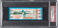 Football Collectibles:Tickets, 1965 NFL Championship Game Packers vs. Browns Full Ticket, PSA EX-MT 6 - None Graded Higher! ...