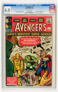 The Avengers #1 (Marvel, 1963) CGC FN 6.0 Off-white pages