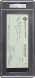 Baseball Collectibles:Others, 1994 Curt Flood Signed Check PSA/DNA Certified Authentic. ...