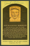 Baseball Collectibles:Others, Jackie Robinson Signed Hall of Fame Postcard....
