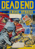 Pulp, Pulp-like, Digests, and Paperback Art, GLENN CRAVATH (American, 1897-1964). Dead-End Crime Stories,comic book cover preliminary, 1949. Mixed media on board. 1...