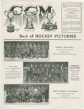 """Hockey Collectibles:Others, 1936 C.C.M. Photographs """"Scarce"""" Advertising Flyer...."""