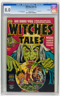 Golden Age (1938-1955):Horror, Witches Tales #3 Bethlehem pedigree (Harvey, 1951) CGC VF 8.0 Creamto off-white pages....