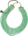 Estate Jewelry:Necklaces, Emerald Bead Necklace. ...