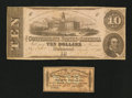 Confederate Notes:1863 Issues, T52 $10 1863.. ... (Total: 2 items)