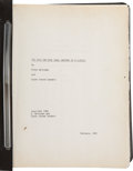 Movie/TV Memorabilia:Documents, The Dick Van Dyke Show: Anatomy of a Classic AnnotatedManuscript....