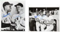 Baseball Collectibles:Photos, New York Giants Multi Signed Photographs Lot of 2....