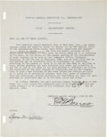 Baseball Collectibles:Others, 1940 Ed Barrow and George Weiss Signed Stock Holder's Document....