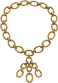 Estate Jewelry:Necklaces, Diamond, Gold Convertible Enhancer-Necklace, Van Cleef &Arpels. ... (Total: 2 Items)