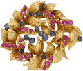 Estate Jewelry:Brooches - Pins, Ruby, Sapphire, Gold Brooch, Tiffany. ...