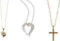 Estate Jewelry:Lots, Lot of Diamond, Ruby, Cultured Pearl, Gold Pendant-Necklaces. ... (Total: 3 Items)