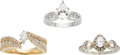 Estate Jewelry:Lots, Lot of Diamond, Gold Rings. ... (Total: 3 Items)