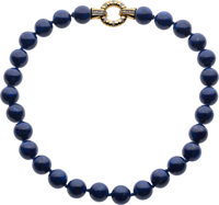 Lapis Lazuli, Diamond, Gold Necklace