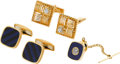 Estate Jewelry:Lots, Lot of Diamond, Lapis Lazuli, Black Onyx, Gold Jewelry. ... (Total: 5 Items)