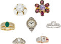 Estate Jewelry:Lots, Lot of Diamond, Multi-Stone, Platinum, Gold Rings. ... (Total: 7 Items)