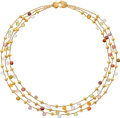 Estate Jewelry:Necklaces, Multi-Stone, Gold Necklace, Marco Bicego. ...