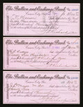 Obsoletes By State:Nevada, Carson City, NV- Bullion and Exchange Bank Three Certificate of Deposits 1902. ... (Total: 3 items)