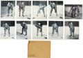 Hockey Cards:Sets, 1st Year of Issue 1945 Quacker Oats Montreal Canadians Premium Photos (10) With Envelope. ...