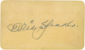 Baseball Collectibles:Others, Tris Speaker Signed Pass....