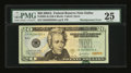 Error Notes:Shifted Third Printing, Fr. 2092-K $20 2004A Federal Reserve Note. PMG Very Fine 25.. ...