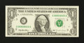 Error Notes:Ink Smears, Fr. 1921-C $1 1995 Federal Reserve Note. Extremely Fine-AboutUncirculated.. ...