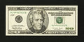 Error Notes:Obstruction Errors, Fr. 2084-J $20 1996 Federal Reserve Note. Very Fine-Extremely Fine.. ...