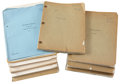 Movie/TV Memorabilia:Documents, Pittsburgh (1942) and Others Script Archive.... (Total: 10Items)