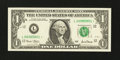 Error Notes:Ink Smears, Fr. 1927-L* $1 2001 Federal Reserve Star Note. Gem CrispUncirculated.. ...