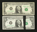 Error Notes:Ink Smears, Fr. 1907-E $1 1969D Federal Reserve Note. Very Choice CrispUncirculated.. Fr. 1921-B $1 1995 Federal Reserve Note. VeryFine.... (Total: 2 notes)