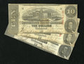 Confederate Notes:1863 Issues, A Trio of T59's $10 1863.. . ... (Total: 3 notes)