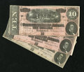 Confederate Notes:1864 Issues, T68 $10 1864.. . ... (Total: 3 notes)