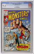 Bronze Age (1970-1979):Horror, Where Monsters Dwell #1 (Marvel, 1970) CGC NM- 9.2 Off-white towhite pages....