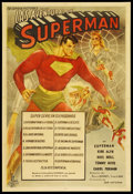 "Movie Posters:Serial, Superman (Columbia, 1948). Argentinean Poster (29"" X 43""). Serial. Starring Kirk Alyn, Noel Neill, Carol Forman, Tommy Bond,..."