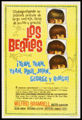 "Movie Posters:Rock and Roll, A Hard Day's Night (United Artists, 1964). Argentinean Poster (29""X 43""). Rock and Roll. Starring John Lennon, Paul McCartn..."