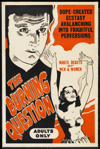 """Tell Your Children (Esper, R-1940s). One Sheet (28"""" X 42""""). Also known as """"The Burning Question"""" and..."""