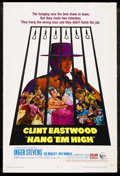 "Movie Posters:Western, Hang 'Em High (United Artists, 1968). One Sheet (27"" X 41""). Western. Starring Clint Eastwood, Inger Stevens, Ed Begley, Pat..."