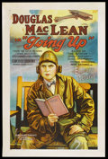 "Movie Posters:Comedy, Going Up (Associated Exhibitors, 1923). One Sheet (27"" X 41"").Comedy. Starring Douglas MacLean, Hallam Cooley, Mervyn LeRoy..."