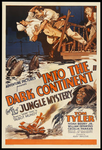 "Jungle Mystery (Universal, 1932). One Sheet (27"" X 41"") Chapter 1 -- ""Into the Dark Continent."" Seri..."