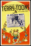 "Movie Posters:Animated, Terry-Toons Stock (20th Century Fox, 1944). One Sheet (27"" X 41"")""The Golden West."" Animated. Directed by Mannie Davis and ..."