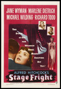 "Movie Posters:Hitchcock, Stage Fright (Warner Brothers, 1950). One Sheet (27"" X 41""). ..."