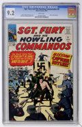 Silver Age (1956-1969):War, Sgt. Fury and His Howling Commandos #9 (Marvel, 1964) CGC NM- 9.2 White pages....