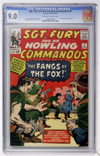 Sgt. Fury and His Howling Commandos #6 (Marvel, 1964) CGC VF/NM 9.0 Off-white to white pages