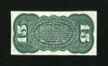 Fractional Currency:Third Issue, Fr. 1272sp 15c Third Issue Green Reverse Very Choice New....